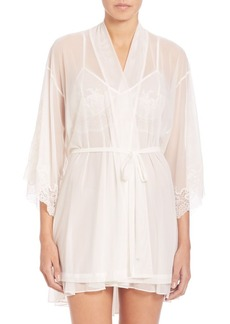 Natori Lace-Trimmed Wrap Robe