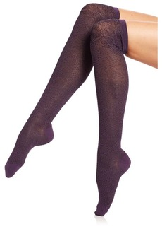Natori Legwear Deco Fan Over-the-Knee Socks