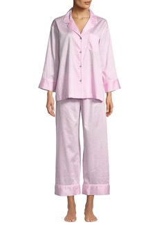 Natori Leopard-Print Cotton Two-Piece Pajama Set