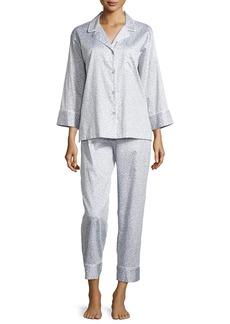 Natori Leopard-Print Poplin Pajama Set
