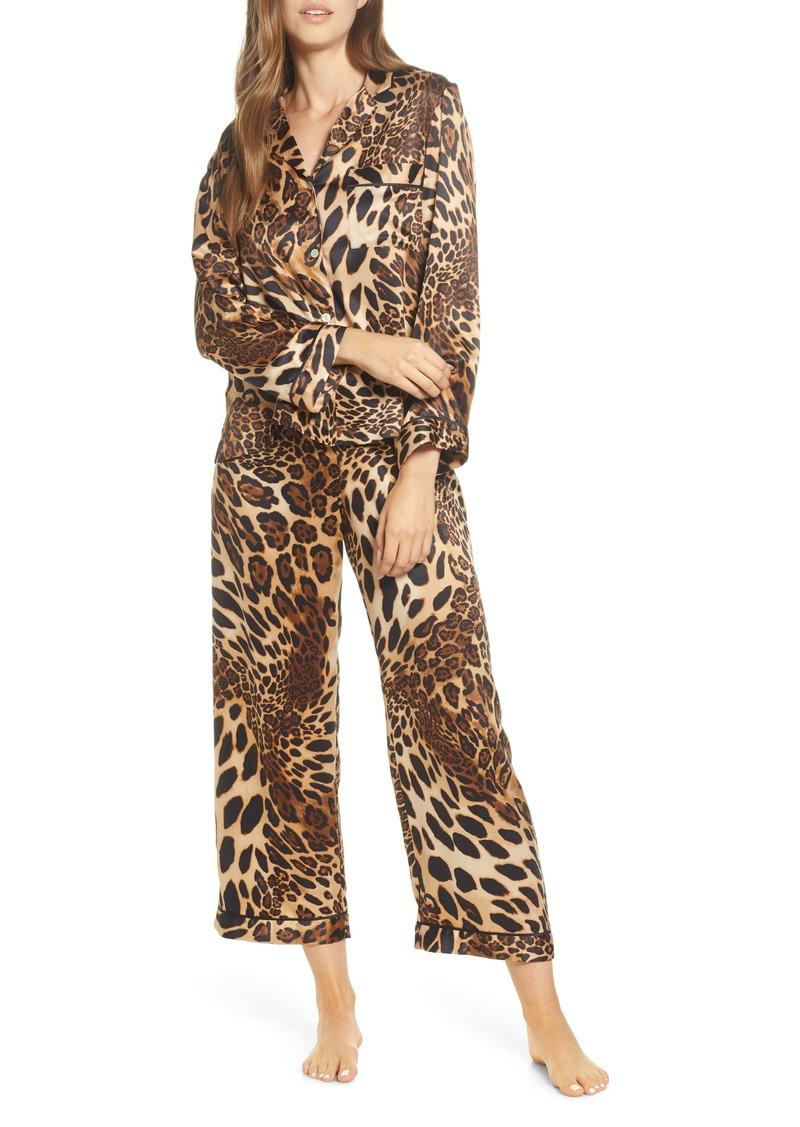 Natori Leopard Print Satin Pajamas