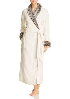Natori Long Robe with Faux Fur