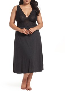 Natori Luxe Shangri-La Nightgown (Plus Size)