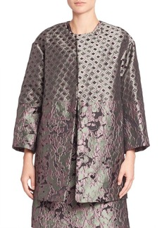 Natori Mixed Print Jacquard Coat