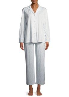 Natori Nara Tonal-Print Jersey Classic Pajama Set