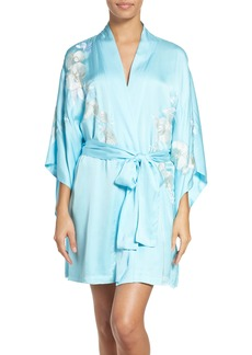 Natori Orchid Embroidered Wrap