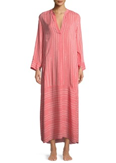 Natori Osaka Striped Long-Sleeve Caftan