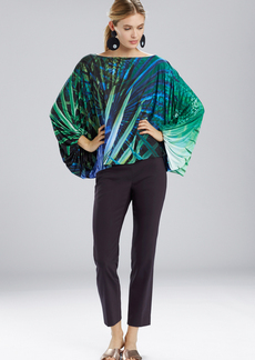 Natori Palm Poet Sleeve Top