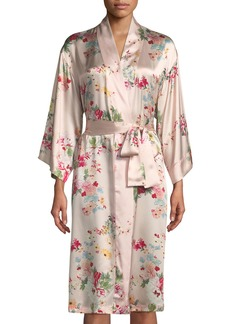 Natori Perennial Silk Robe