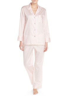 Natori Piped Cotton Sateen Pajamas