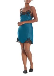 Natori Plume Lace Trim Chemise Nightgown