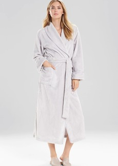 Natori Plush With Satin Twill Robe