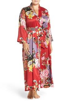 Natori Print Robe (Plus Size)