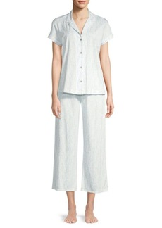 Natori Printed Cotton Jersey Pajama Set