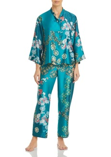 Natori Printed Satin Pajama Set