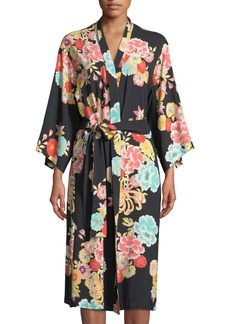 Saipan Floral-Print Long Robe