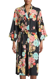 Natori Saipan Floral-Print Long Robe