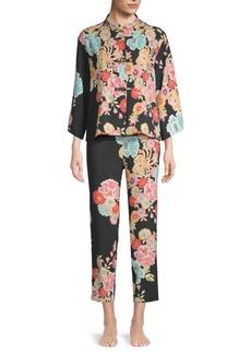 Natori Saipan Mandarin Floral Pajama Set
