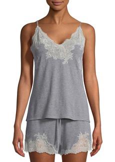 Natori Shangri-La Two-Piece Lace-Trim Shortie Pajama Set