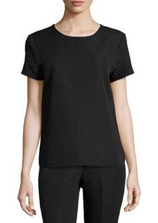 Natori Short-Sleeve Textured Top