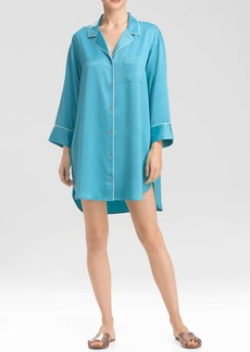 Natori Solid Charmeuse Essentials Sleepshirt with Pocket