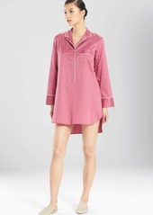 Natori Solid Cotton Sateen Essentials Sleepshirt