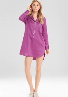 Natori Solid Cotton Sateen Essentials Sleepshirt