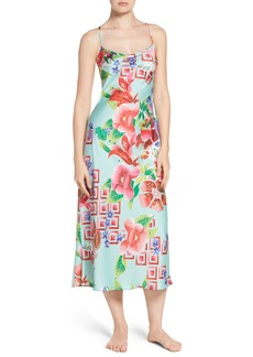 Natori Star Blossom Satin Nightgown