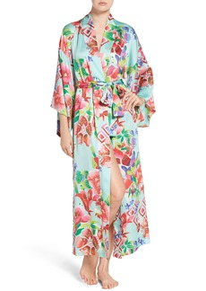 Natori Star Blossom Satin Robe