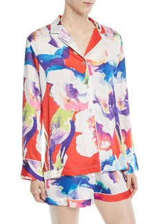 Natori Tahiti Long-Sleeve Shorty Pajama Set