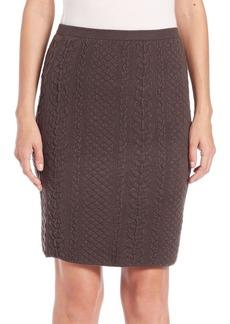 Natori Textured Knit Pencil Skirt