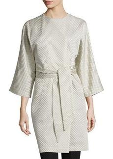 Natori Textured Wrap-Front Coat