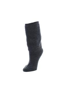 Natori Tight Knit Honeycomb Extended Crew Socks