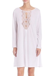 Natori Tranquility Cotton & Lace Sleepshirt