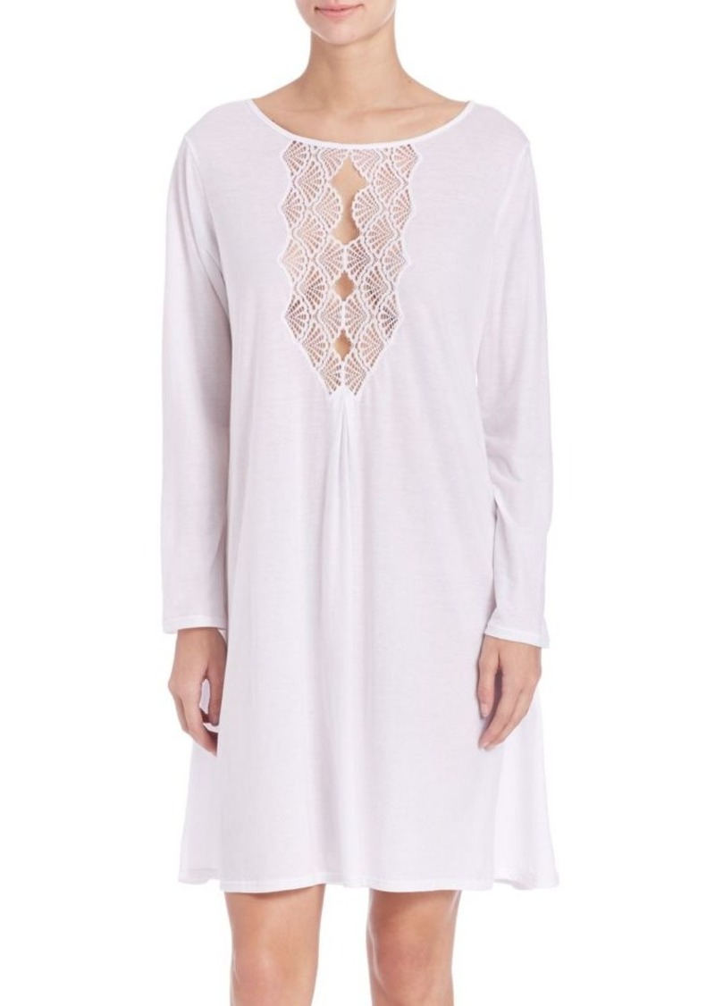 Natori Tranquility Cotton & Lace Sleepshirt