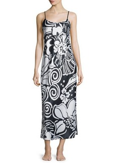 Natori Tuvala Floral-Print Gown