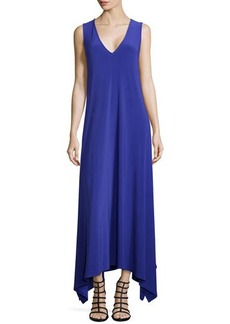 Natori V-Neck Sleeveless Jersey Dress