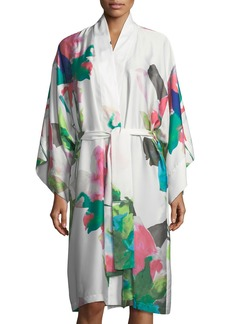 Natori Water Lily Satin Robe