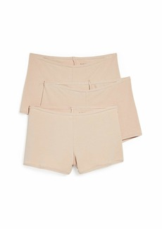 Natori Women's Bliss Comfort Boyshort 3 Pack  Tan