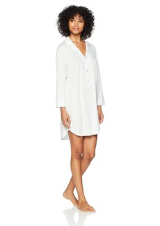 Natori Women's Cotton Knit Sleepshirt BLUEFROST