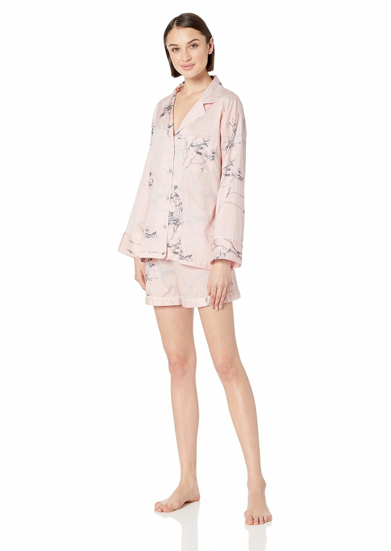Natori Women's Cotton Sateen Pajama Short Set  XS