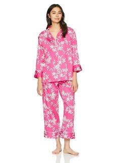 Natori Women's Cotton Sateen Printed Pajama Set  M
