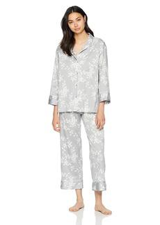 Natori Women's Cotton Sateen Printed Pajama Set  XL