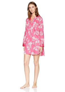 Natori Women's Cotton Sateen Printed Sleepshirt  XS