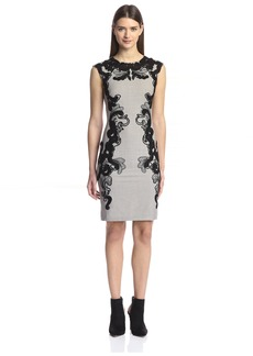 Natori Women's Embroidery Detail Sheath Dress