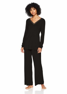 Natori Women's Feathers Knit Long Sleeve PJ  Extra Large