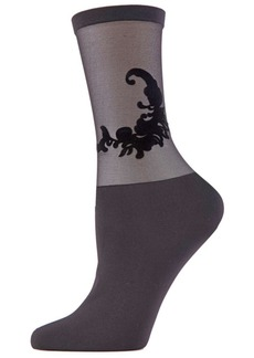 Natori Women's Feathers Sheer Crew Socks