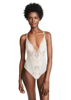 Natori Women's Flora Bodysuit  Pink Off White