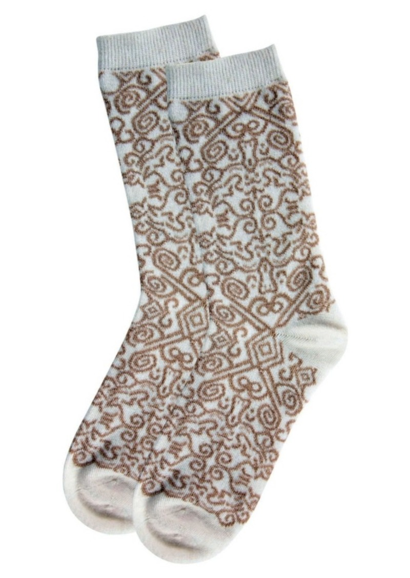 Natori Women's Gobi Textile Cashmere Blend Crew Socks