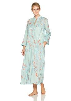 Natori Women's Orchid Spray Long Sleepshirt Blue